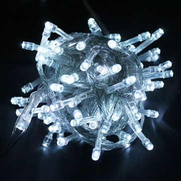 Božična svetlobna veriga - hladno bela - LED