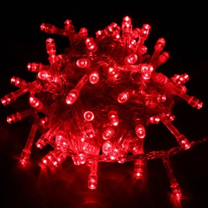 Božična svetlobna veriga - rdeča - LED