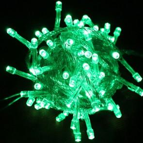 Božična svetlobna veriga - zelena - LED