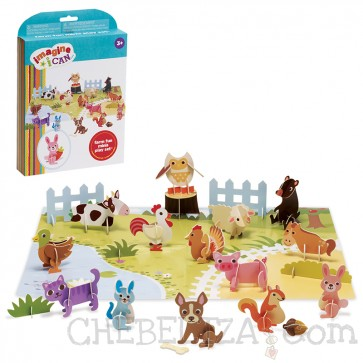 Imagine I Can Farm Fun Minis Play Set oz. Mini igralni komplet divjih živali