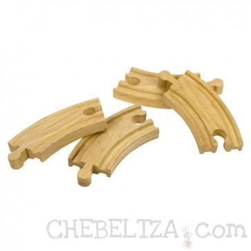 Dodatne kratke zavite lesene tračnice