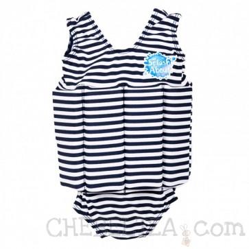 SplashAbout, Plavalna obleka Float Suit - modro-črtasta