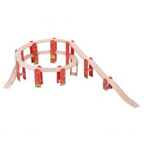 Dodatki za lesene vlakce - Večnivojski set