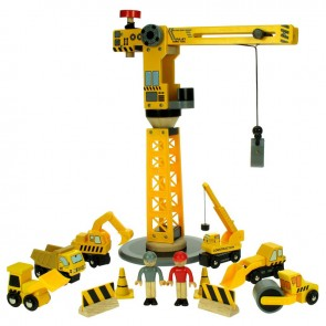 Gradbeni set z žerjavom