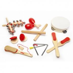 Set lesenih glasbenih instrumentov