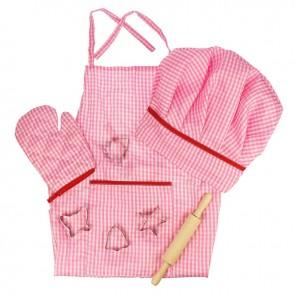 Otroški predpasnik z modelčki - roza
