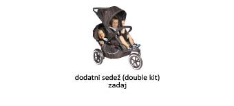otroški vozički Phil and Ted's nastavitev sedeža