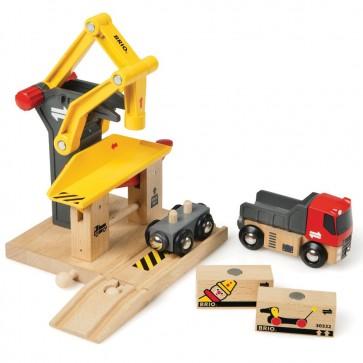 BRIO dodatki za lesene vlakce, Tovorni terminal
