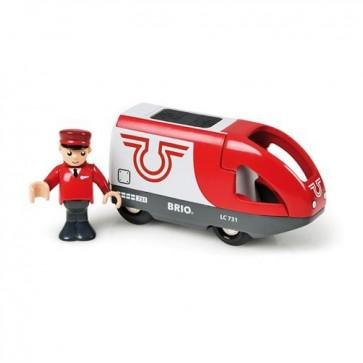 Potniška električna lokomotiva BRIO za lesene vlakce