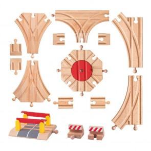 15-delni kompet dodatnih tračnic za lesene vlakce
