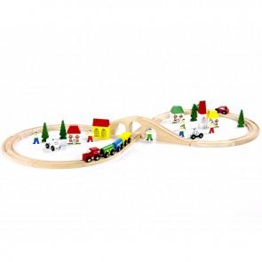 Lesena železnica, Vlakec v obliki št. 8