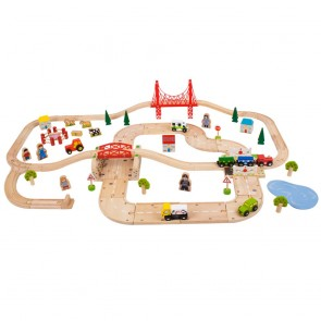 Podeželski vlak in cesta