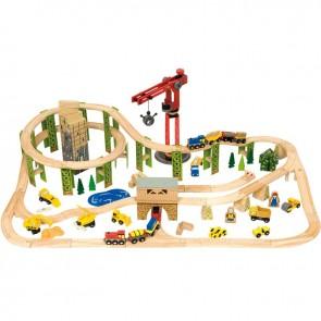 Lesena železnica, Gradbinski vlak