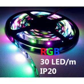 LED trak RGB, 5m, 30LED/m, IP20
