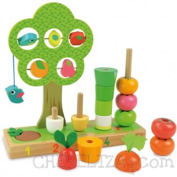 Vilac, Lesena igrača, skladovnica - Učenje štetja (zelenjava)