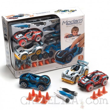 Modarri, Komplet treh avtomobilov