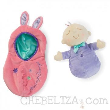 Mehak dojenček oz. punčka Snuggle Pods, Hunny Bunny