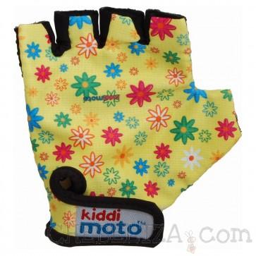 Otroške kolesarske rokavice z rožicami (S)