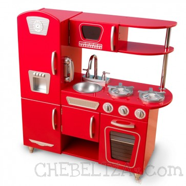 Rdeča retro kuhinja