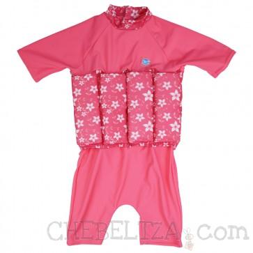 Splash ABout, otroška plavalna obleka Float Suit - Pink Blossom