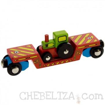Leseni vlakci, Vagon za traktor