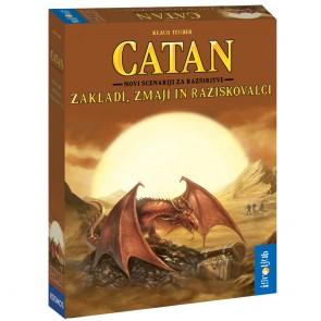 Družabna igra, Naseljenci otoka Catan - Zakladi, Zmaji in Raziskovalci