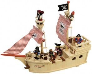 Tidlo, Lesena piratska ladja