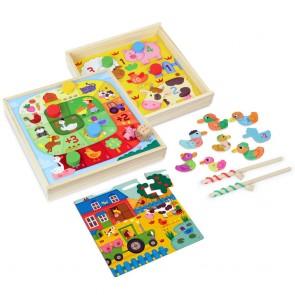 Vilac, Komplet 4 družabnih iger za malčke