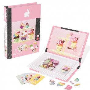 Janod, MagnetiBook Tortice Cup Cakes