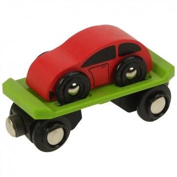 Dodatki za lesene vlakce - Vagon za prevoz avtomobilov