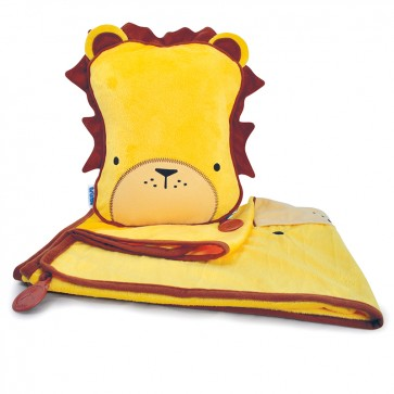 Dječji jastuk sa dekom SnooziHedz Leeroy Lav - žuti