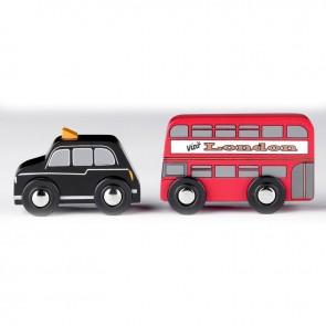 Tidlo, Londonski taxi in dvonadstropni avtobus