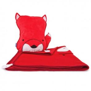 Dječji jastuk sa dekom SnooziHedz Felix Lisac - crveni
