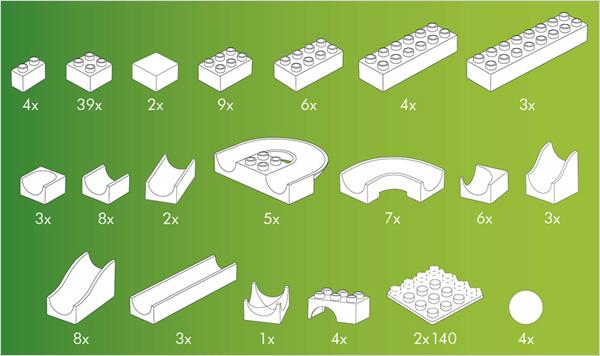 Hubelino kocke, Steza za frnikule, vsebina 123-delnega seta