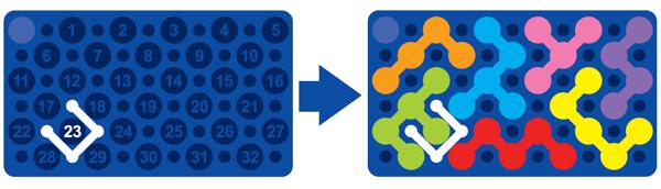 Žepna miselna igra Smart Games - IQ Blox; Primer zahtevnejšega izziva